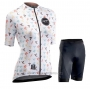 2020 Cycling Jersey Women Northwave White Short Sleeve and Bib Short