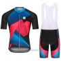 2021 Cycling Jersey Steep Red Blue Short Sleeve and Bib Short(2)