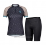 2021 Cycling Jersey Women Scott Gray Marron Short Sleeve and Bib Short