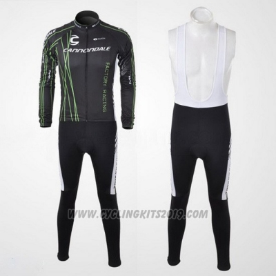 2010 Cycling Jersey Cannondale Black Long Sleeve and Bib Tight