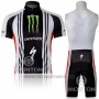 2011 Cycling Jersey Specialized White and Black Short Sleeve and Bib Short