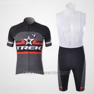 2011 Cycling Jersey Trek Black and White Short Sleeve and Bib Short