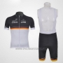 2011 Cycling Jersey Trek Leqpard Campione Germany Black and Yellow Short Sleeve and Bib Short