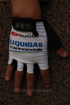 2011 Liquigas Gloves Cycling White