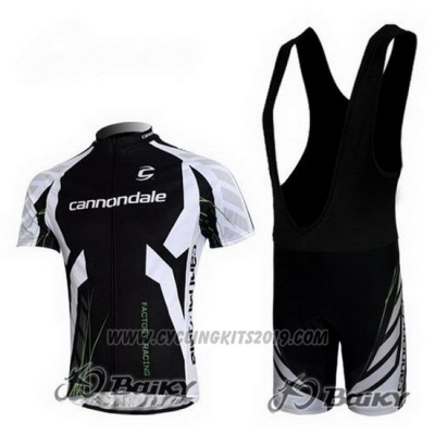 2012 Cycling Jersey Cannondale Black Short Sleeve and Bib Short