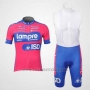 2012 Cycling Jersey Lampre ISD Pink and Sky Blue Short Sleeve and Bib Short