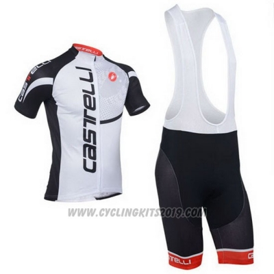 2013 Cycling Jersey Castelli Black and White Short Sleeve and Bib Short