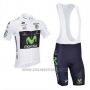 2013 Cycling Jersey Movistar Lider White Short Sleeve and Bib Short