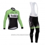 2014 Cycling Jersey Belkin Green and Black Long Sleeve and Bib Tight