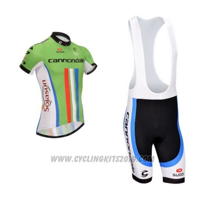2014 Cycling Jersey Cannondale Campione New Zealand Short Sleeve and Bib Short