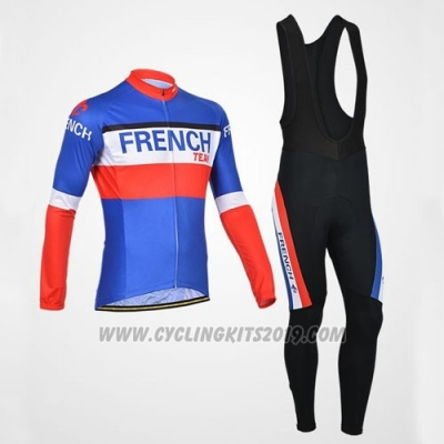 2014 Cycling Jersey Monton Campione Francese Long Sleeve and Bib Tight