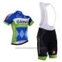 2015 Cycling Jersey Garmin Blue and White Short Sleeve and Bib Short