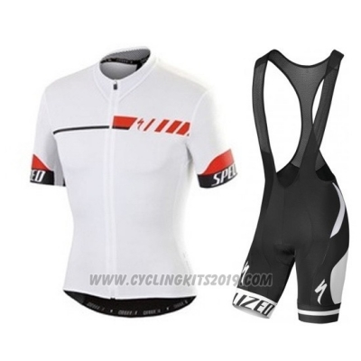 2015 Cycling Jersey Specialized White Short Sleeve and Bib Short
