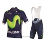 2016 Cycling Jersey Movistar Green and Blue Short Sleeve and Bib Short