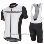 2016 Cycling Jersey Nalini White and Black Short Sleeve and Salopette