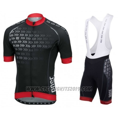 2016 Cycling Jersey Pink Black and Red Short Sleeve and Bib Short