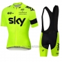 2016 Cycling Jersey Sky Yellow Short Sleeve and Bib Short