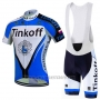 2016 Cycling Jersey Tinkoff Blue and Black Short Sleeve and Bib Short