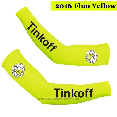 2016 Saxo Bank Tinkoff Arm Warmer Cycling Yellow