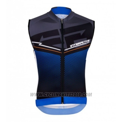 2016 Wind Vest Santini Black and Blue