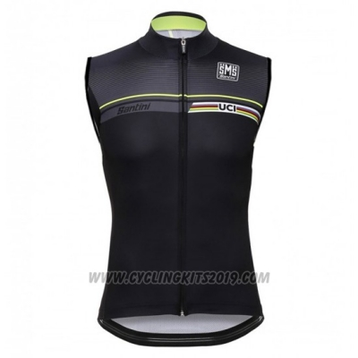 2016 Wind Vest Santini Black and Green