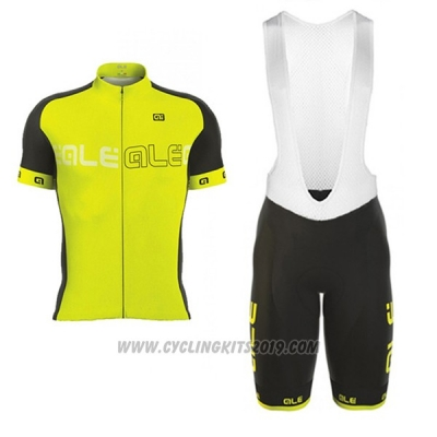 2017 Cycling Jersey ALE Excel Light Yellow Short Sleeve and Bib Short