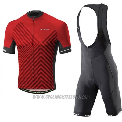 2017 Cycling Jersey Altura Peloton Red Short Sleeve and Bib Short
