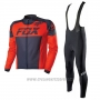 2017 Cycling Jersey Fox Black and Red Short Sleeve and Bib Short