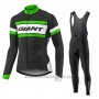2017 Cycling Jersey Giant Black Long Sleeve and Bib Tight