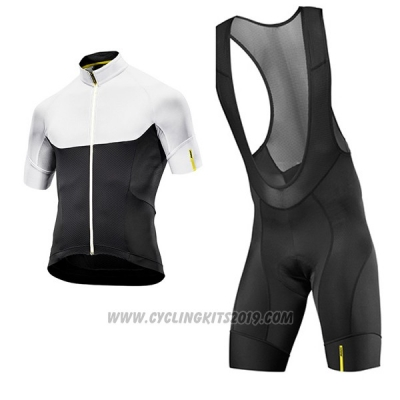2017 Cycling Jersey Mavic Black and White Short Sleeve and Bib Short