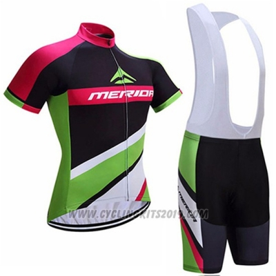 2017 Cycling Jersey Merida Red and Green Short Sleeve and Bib Short