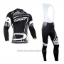 2017 Cycling Jersey Orbea White and Black Long Sleeve and Bib Tight