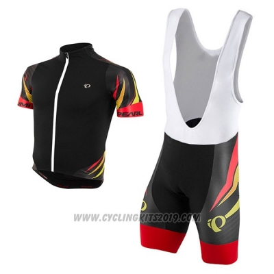 2017 Cycling Jersey Pearl Izumi Black and Red Short Sleeve and Bib Short