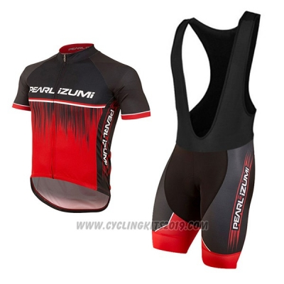2017 Cycling Jersey Pearl Izumi Red Short Sleeve and Bib Short