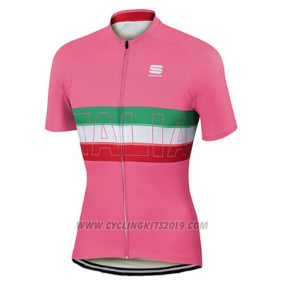 2017 Cycling Jersey Sportful Campione Italy Red Short Sleeve and Bib Short