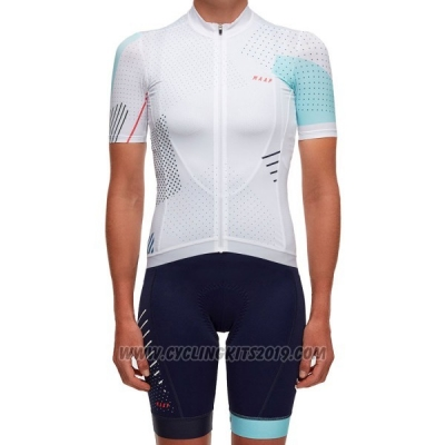 2017 Cycling Jersey Women Maap White Short Sleeve and Bib Short