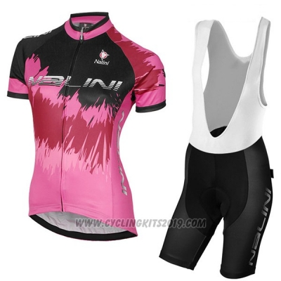 2017 Cycling Jersey Women Nalini Sfiziosa Red Short Sleeve and Bib Short