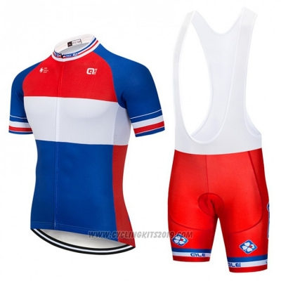 2018 Cycling Jersey FDJ Blue White Red Short Sleeve and Bib Short