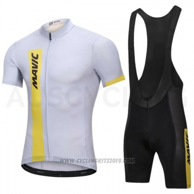 2018 Cycling Jersey Mavic White Short Sleeve and Bib Short