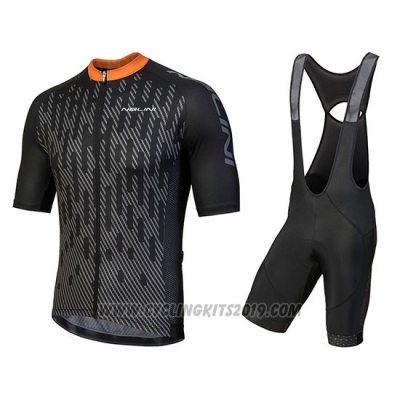a1267bb50 2018 Cycling Jersey Nalini Podio Black Short Sleeve and Salopette