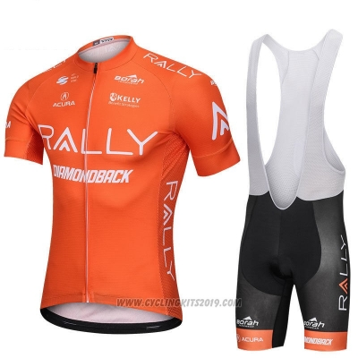 2018 Cycling Jersey Rally Orange Short Sleeve and Bib Short