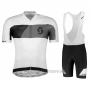 2018 Cycling Jersey Scott Rc Gray White Short Sleeve and Bib Short