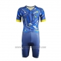 2019 Cycling Jersey Emonder-triathlon Blue Yellow Short Sleeve and Bib Short