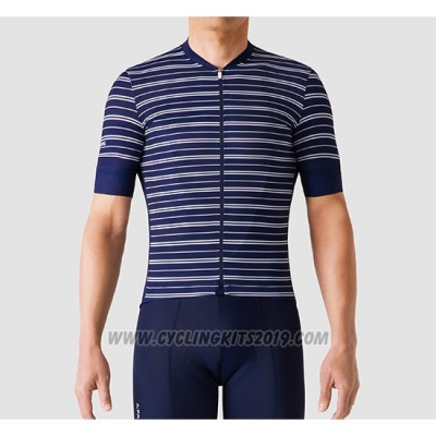 2019 Cycling Jersey La Passione Stripe Blue Short Sleeve and Bib Short