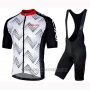 2019 Cycling Jersey Nalini Podio 2.0 Black White Short Sleeve and Bib Short
