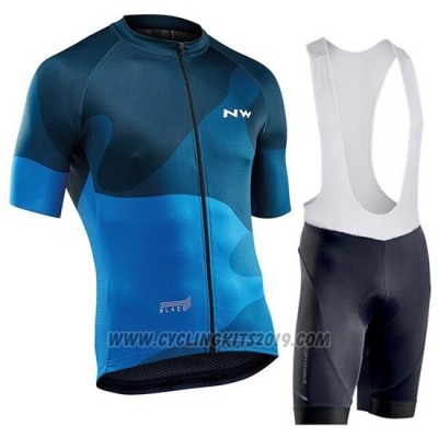 2019 Cycling Jersey Northwave Blue Short Sleeve and Bib Short