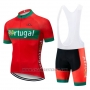 2019 Cycling Jersey Portugal Green Red Short Sleeve and Bib Short