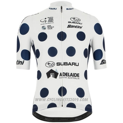 2019 Cycling Jersey Tour Down Under Blue White Short Sleeve and Bib Short
