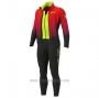 2020 Cycling Jersey ALE Red Yellow Long Sleeve and Bib Tight(1)