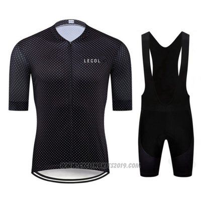 2020 Cycling Jersey Le Col Black Short Sleeve and Bib Short